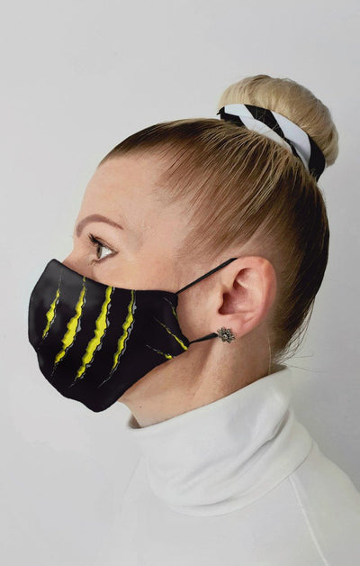 Claw Recycled Fabric Cotton Face Mask - Washable & Reusable