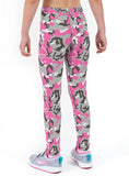 Camo Pink Print Lycra Girls Leggings