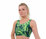 Havana Lime Print Lycra Crop Top