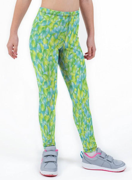 Seychelles Lime Print Lycra Girls Leggings