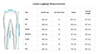 Ladies Leggings Size Guide