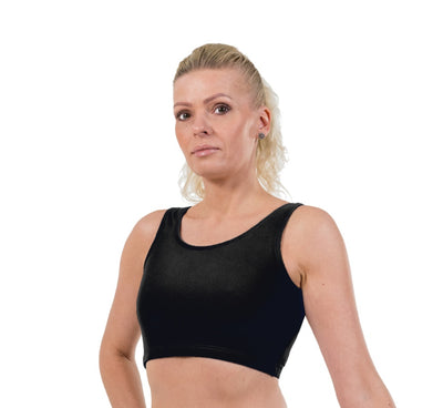 Black Lycra Crop Top - 3 fabric options