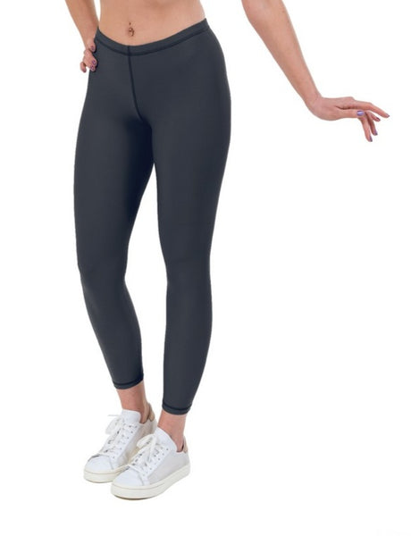 Charcoal Lycra Leggings - Sports Fabric