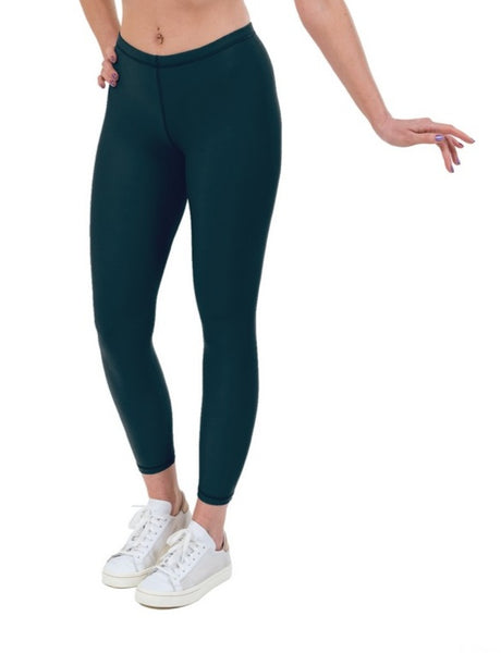 Petrol Lycra Leggings - Sports Fabric