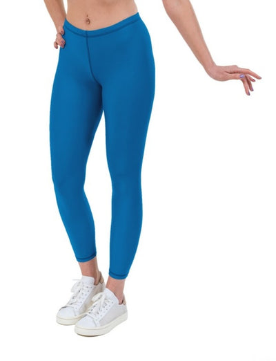 Turquoise Lycra Leggings - Sports Fabric