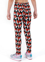 Santa Hats Christmas Print Lycra Girls Leggings