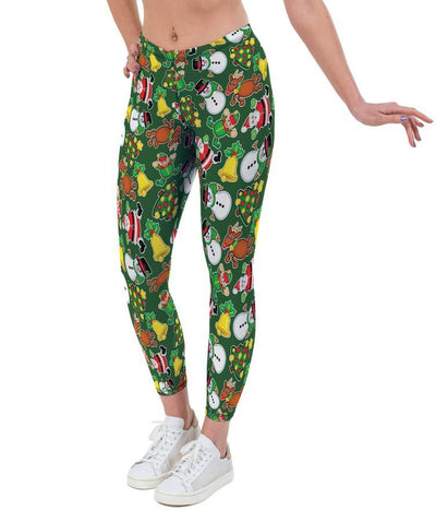 Festive Fun Christmas Print Lycra Leggings