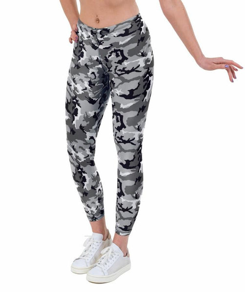 Crazy Camo Print Lycra Leggings