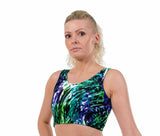 Animal Magic Print Lycra Crop Top