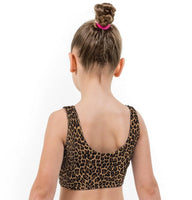 Cheetah Print Lycra Girls Crop Top