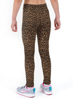 Cheetah Print Lycra Girls Leggings