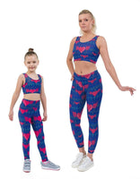 Heartbeat Blue Valentines Print Matching Set