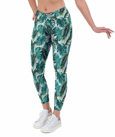 Tropical Palm Print Lycra Leggings