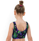 Butterflies Print Girls Lycra Crop Top