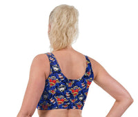 Tattoo UV Valentines Print Lycra Crop Top