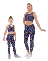 Tattoo UV Valentines Lycra Crop Top