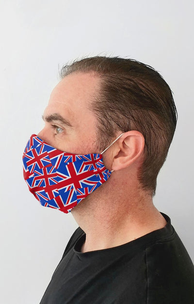UK Flag Recycled Fabric Cotton Face Mask - Washable & Reusable