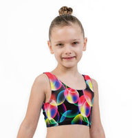 Bubble Print Lycra Girls Crop Top