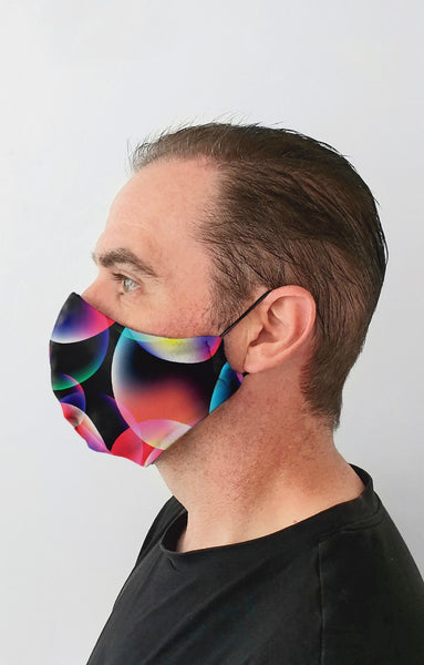 Bubble Recycled Fabric Cotton Face Mask - Washable & Reusable