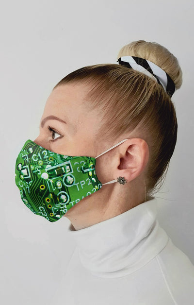 Short Circuit Recycled Fabric Cotton Face Mask - Washable & Reusable