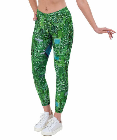 Short Circuit Print Lycra Leggings