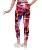 Tropical SunMatching Set Print Lycra Leggings