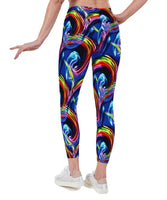 Glow Spin UV Print Lycra Leggings