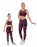 Flamingo Hearts Print Matching Set