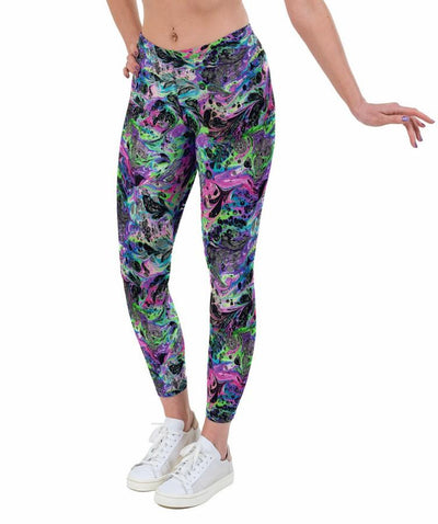 Space Marble UV Print Lycra Leggings