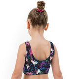 Space Pony Print Lycra Girls Crop Top