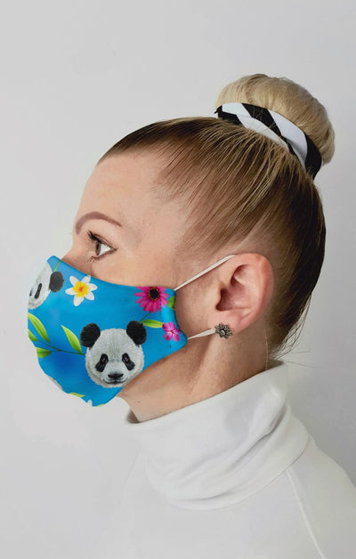 Panda Recycled Fabric Cotton Face Mask - Washable & Reusable