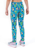 Panda Print Lycra Girls Leggings