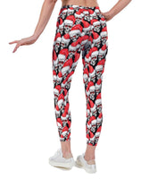 Scrooge Christmas Print Lycra Leggings