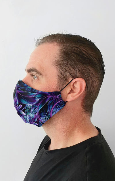 Wonderlust UV Recycled Fabric Cotton Face Mask - Washable & Reusable