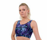 Wonderlust UV Turq Print Lycra Crop Top