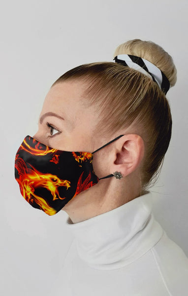 Firestarter Recycled Fabric Cotton Face Mask - Washable & Reusable