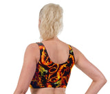 Firestarter Print Lycra Crop Top
