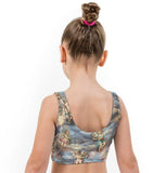 Cherubs Valentines Print Lycra Girls Crop Top