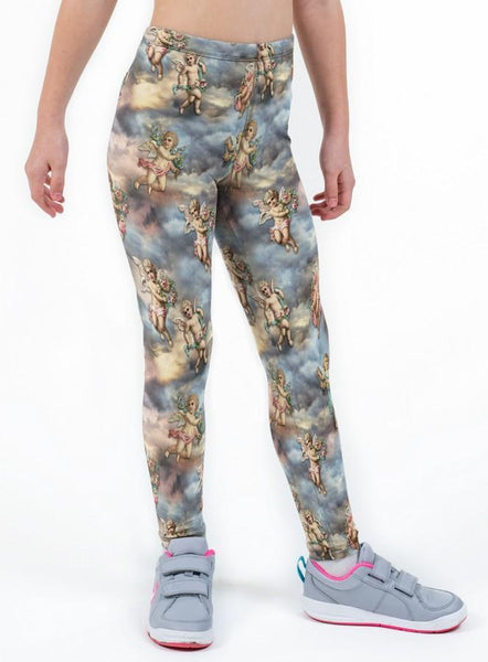 Cherubs Valentines Print Lycra Girls Leggings