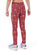 Bobby Robin Red Christmas Print Lycra Girls Leggings