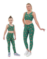 Bobby Robin Green Christmas Print Matching Set
