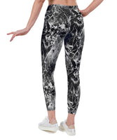 Onyx Black Print Lycra Leggings
