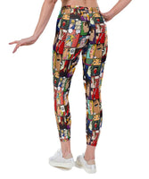 Pop Art Comic Print Lycra Leggings