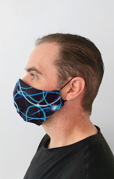 Trail Flare Recycled Fabric Cotton Face Mask - Washable & Reusable