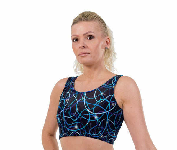 Trail Flare Print Lycra Crop Top
