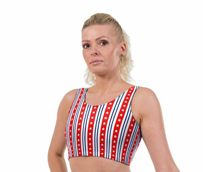 Glory Print Lycra Crop Top