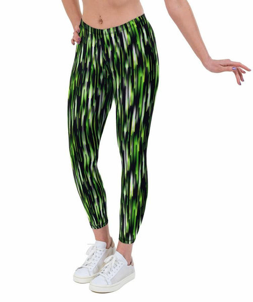 Tracer Green Print Lycra Leggings