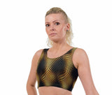 Viper Gold Print Lycra Crop Top