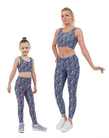US Denim Hearts Valentines Print Matching Set