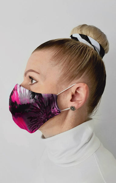 Tropical Haze Recycled Fabric Cotton Face Mask - Washable & Reusable